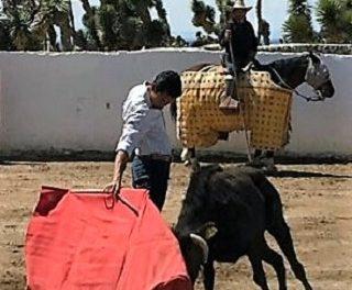 Israel Téllez en la ganadería D´Guadiana