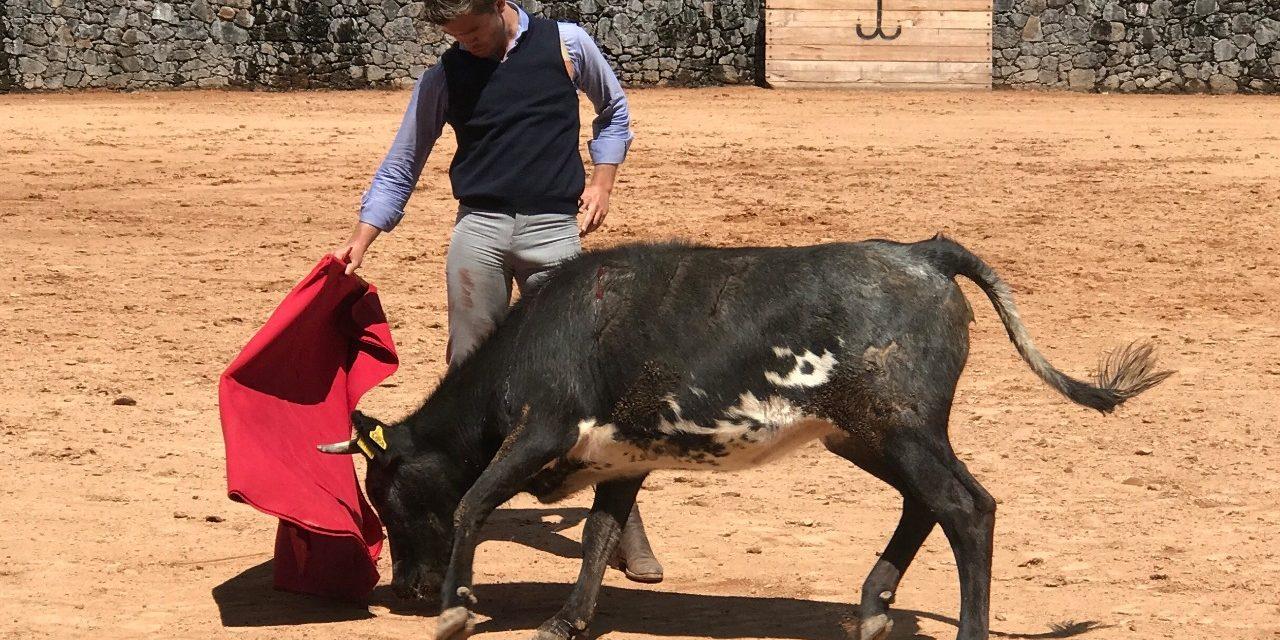 Diego Sánchez tentó en la ganadería de Xajay