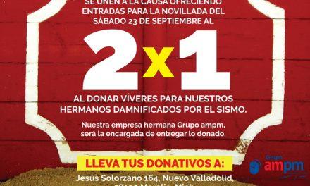 Casa Toreros y La Monumental de Morelia apoyan a los afectados