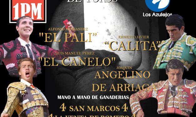 «El Pali», «Calita», «El Canelo» y Angelino de Arriga en Los Azulejos