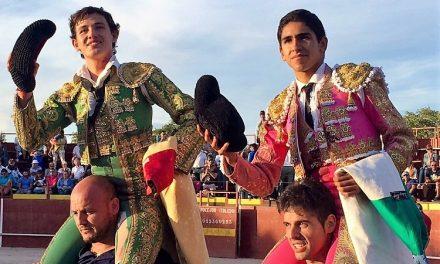 Héctor Gutiérrez y Miguel Aguilar salieron a hombros en Yebra
