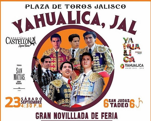 Anuncian novillada en Yahualica
