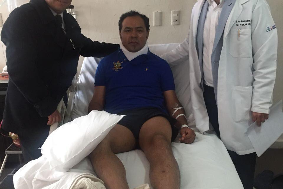 Angelino recibe el alta médica