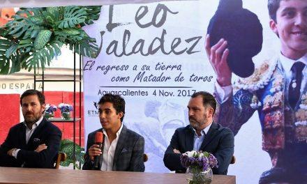 """""""Es bueno estar en casa de nuevo y cumpliendo el sueño como matador de toros"""": Leo Valadez"""