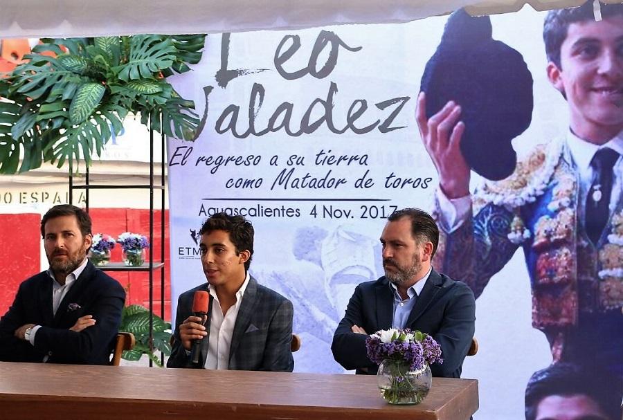 «Es bueno estar en casa de nuevo y cumpliendo el sueño como matador de toros»: Leo Valadez