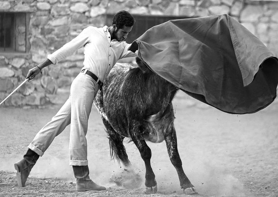 El novillero «Esparterito» estuvo en Boquilla del Carmen