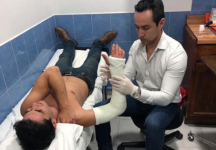 Lorenzo Garza sufrió fractura