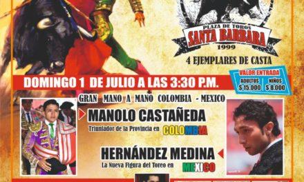 Se presenta en Colombia el novillero Hernández Medina