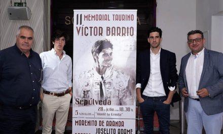 Joselito Adame en el memorial a Víctor Barrio