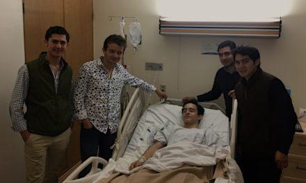 José Sainz se recupera de la cornada