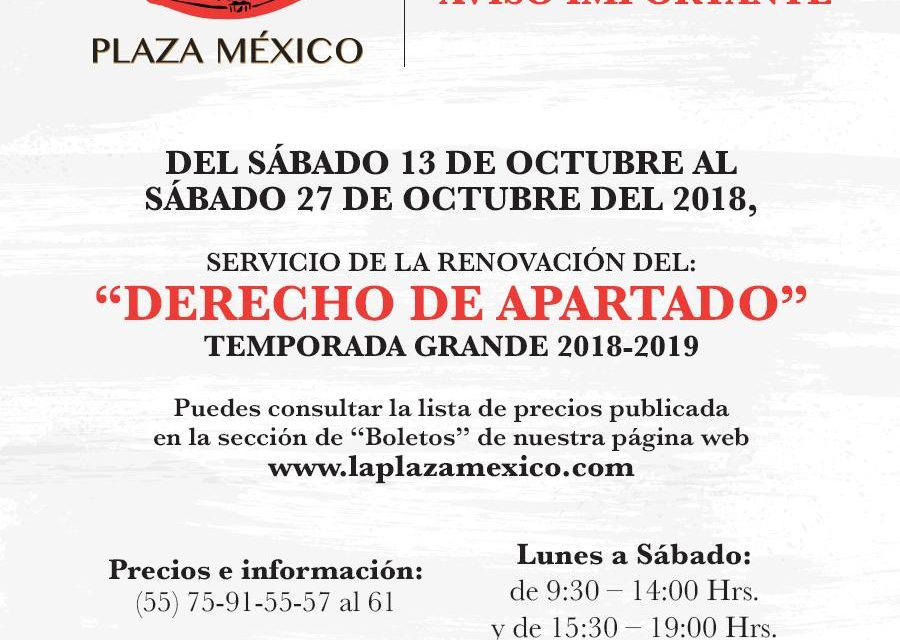 La empresa de La Plaza México dio a conocer interesante elenco