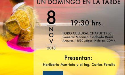 """Pablo Esparza presenta su libro """"Un domingo en la tarde"""""""