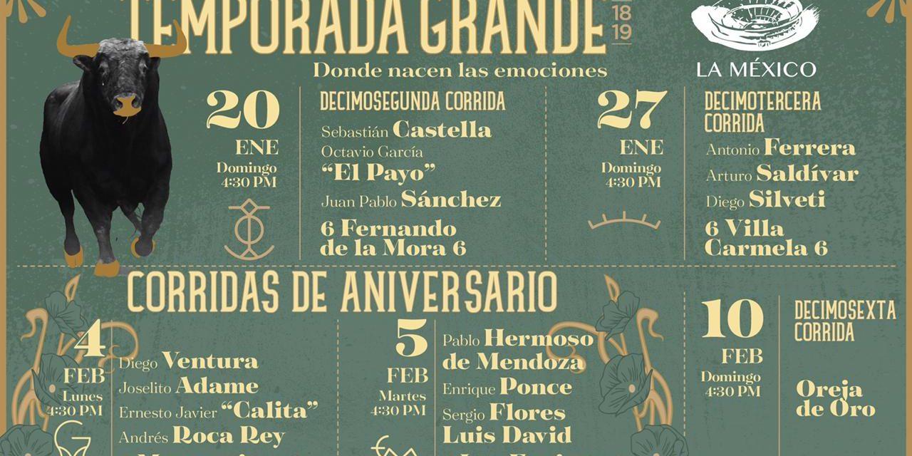 Carteles de lujo en la Monumental México