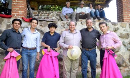José María Mendoza y Curro Recoba en José Farías