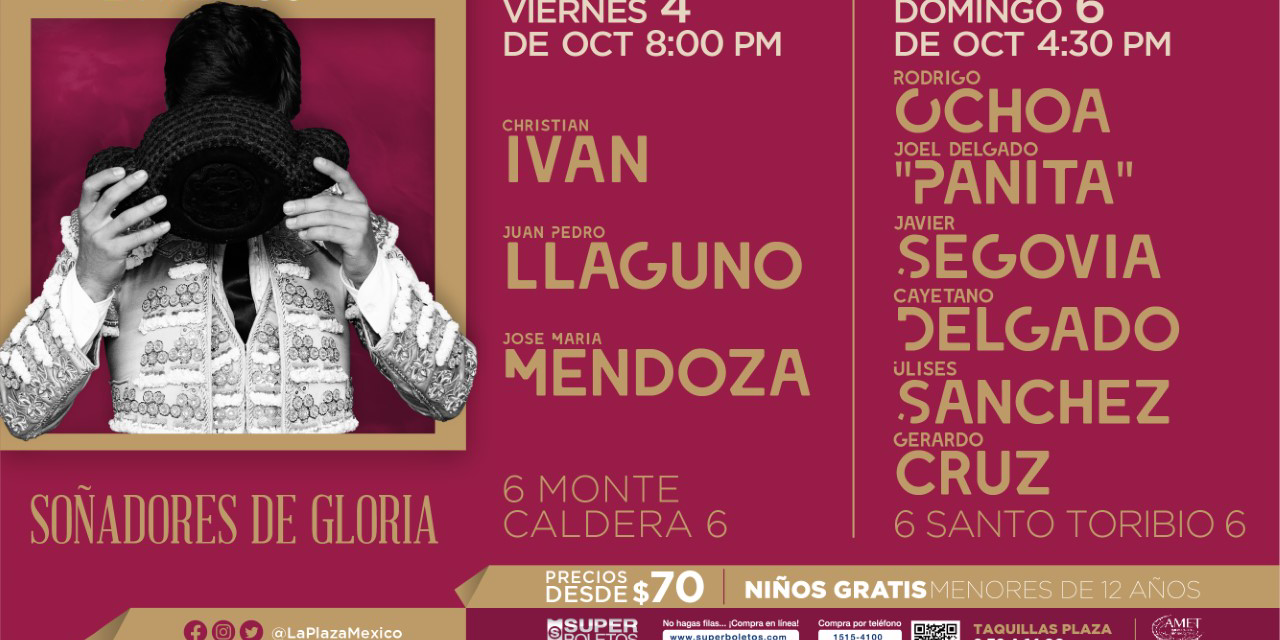 Dan a conocer los carteles próximos de la México