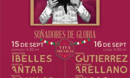 Novilladas el 15 y 16 de septiembre, en La México