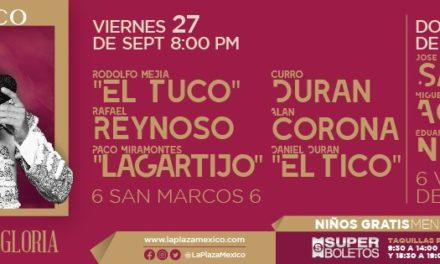 Viernes y domingo novilladas en La México