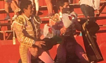 El novillero mexicano sin picadores»Finito» triunfa en Baltanas