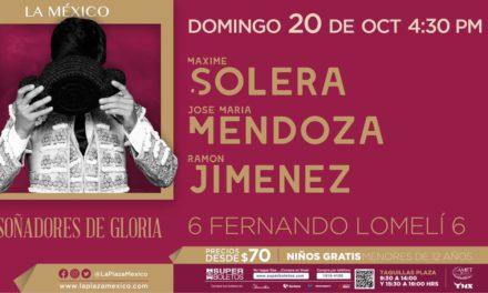 Solera, Mendoza y Jiménez en la México