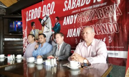Encabeza Andy Cartagen el cartel de Lerdo