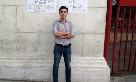Lorenzo Garza en huelga de hambre