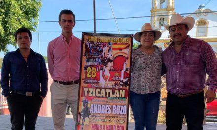 Cartel de rejones en Tizcatlán