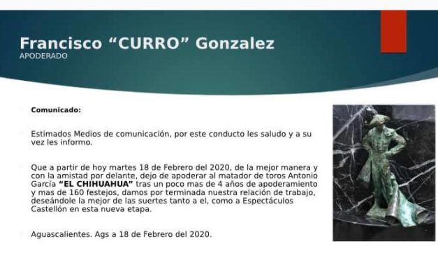 Curro González y El Chihuahua rompen relación