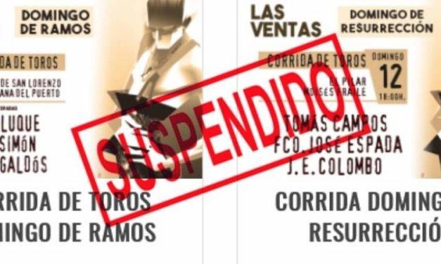 En Madrid suspenden corridas de Ramos y Resurrección