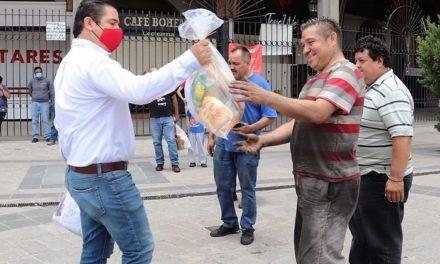 TMX entrega despensas en Aguascalientes