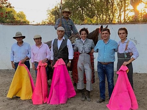 Héctor Gabriel en la dehesa de Teofilo Gómez