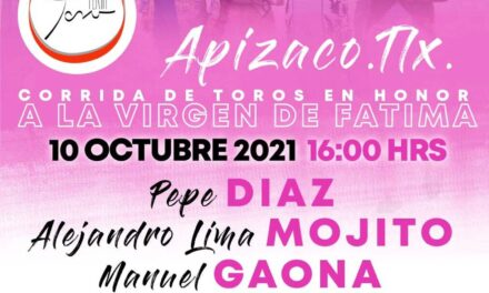 Anuncia Feria Toro dos festejos en Apizaco